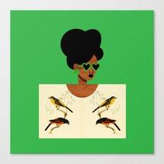 Green Postcard Fashion Canvas Print
