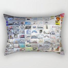 R dot Rectangular Pillow