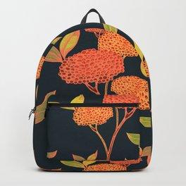 Orange autumn berries. Backpack