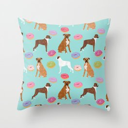 Boxer donuts cute gifts for pure breed dog lover Boxers dog owners Throw Pillow
