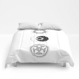 Sun, Moon and Star Mandalas Comforters