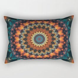 Fundamental Spiral Mandala Rectangular Pillow