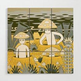Mushroom Men Wood Wall Art