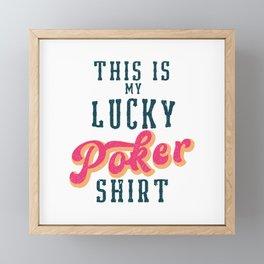 Lucky Poker Shirt Framed Mini Art Print