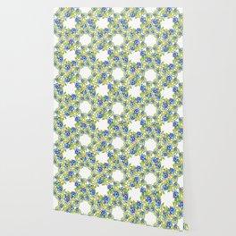 Wild Blueberries Lattice Wallpaper