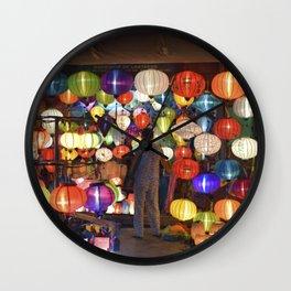 Colored lanterns Wall Clock