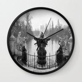 Fountains in Kensington Park of London, England Wall Clock