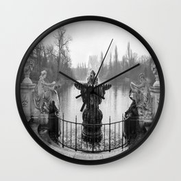 Fountains in Kensington Park of London, England Wall Clock