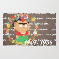 frida kahlo Area & Throw Rugs featuring Frida Kahlo by Alapapaju