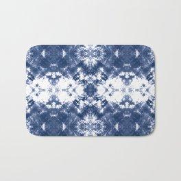 Shibori Tie Dye Indigo Blue Bath Mat