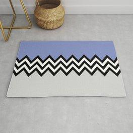 Black and white zigzag pattern 3 Rug