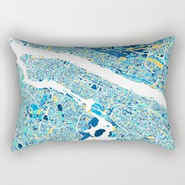 New York City Map United states full color Rectangular Pillow