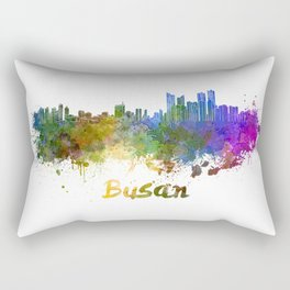 Busan skyline in watercolor Rectangular Pillow