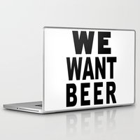 beer Laptop & iPad Skins featuring Beer by Meche A