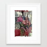 patriotic Framed Art Prints featuring Patriotic by Colleen G. Drew