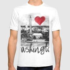 I love Washington White Mens Fitted Tee MEDIUM