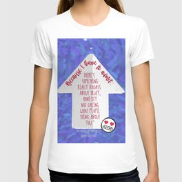 The Upside of Unrequited Quote Print T-shirt