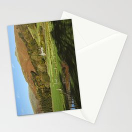 Cottage and flooded field. Grasmere, Lake District, UK. Stationery Cards
