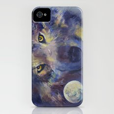 Grey Wolf Moon iPhone (4, 4s) Slim Case