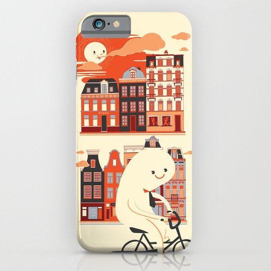 Happy Ghost Biking Through Amsterdam iPhone & iPod Case