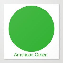 American Green Canvas Print