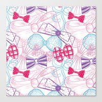 bows Canvas Prints featuring Bows by Wendy Ding: Illustration