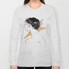 Inktober - Flower Crown Long Sleeve T-shirt