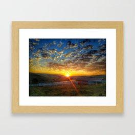 Sunrise on September 15th Framed Art Print