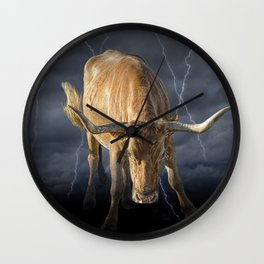 Bull Market, symbol of the increase in financial markets Wall Clock