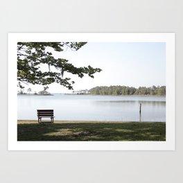 Bench. Art Print