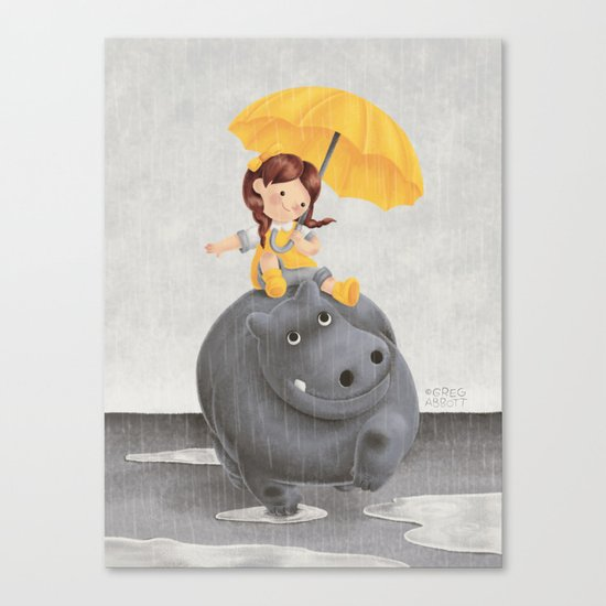 And It Poured Canvas Print