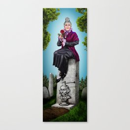Widow, Stretching Portrait series by Topher Adam Canvas Print