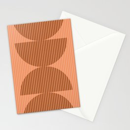Abstraction Shapes 17 in Terracotta Shades (Moon Phase Abstract)  Stationery Cards