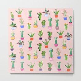 Cacti Land 2 Metal Print
