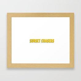 Sunset Chasers Framed Art Print