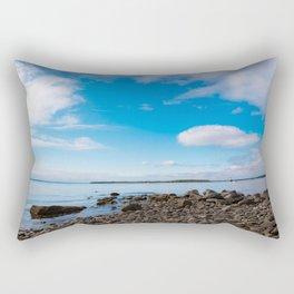 Blue Skies Narragansett Bay Rectangular Pillow