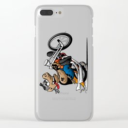Biker Hog Motorcycle Cartoon Clear iPhone Case