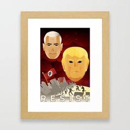 RESIST -- Soviet-style Trump/Pence propaganda Framed Art Print