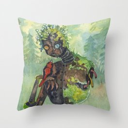 a meeting Throw Pillow