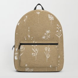 Wildflowers kraft Backpack