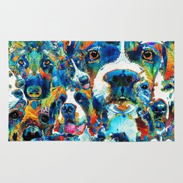 Dog Lovers Delight - Sharon Cummings Rug