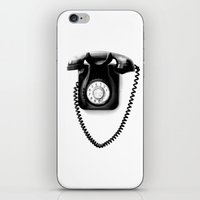 telephone iPhone & iPod Skins featuring Telephone by Plasmodi