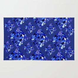 FACETED BLUE ON BLUE SAPPHIRE GEMSTONES Rug