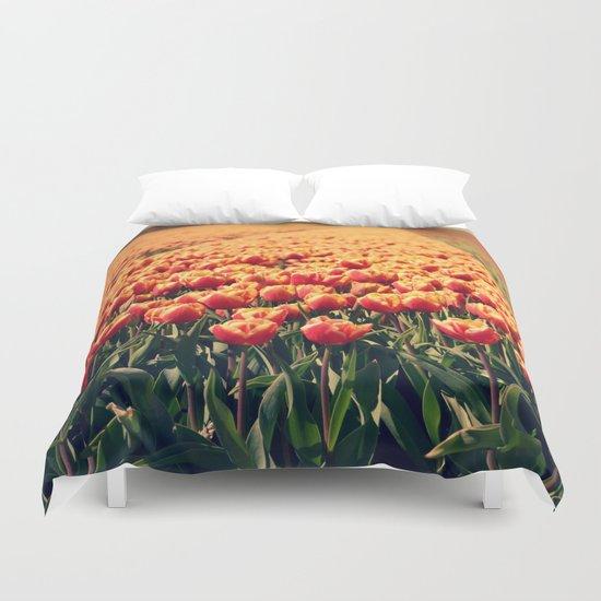 Tulips field #6 Duvet Cover