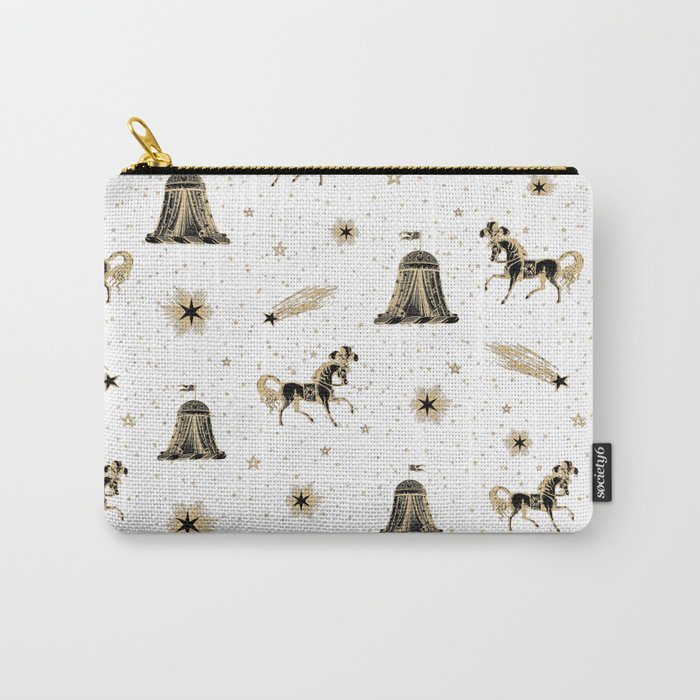 Magic Land Circus - White and Gold Carry-All Pouch