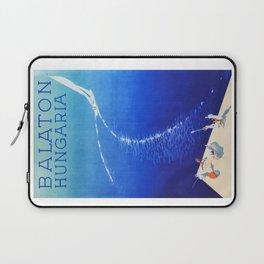 Budapest, Hungary, Balaton, vintage poster Laptop Sleeve