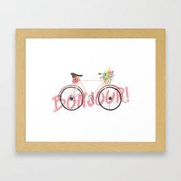 Bonjour! Bicycle Framed Art Print