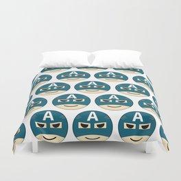 Captian A Emoji Duvet Cover