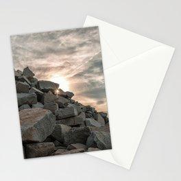 Rocks sky and sea Stationery Cards
