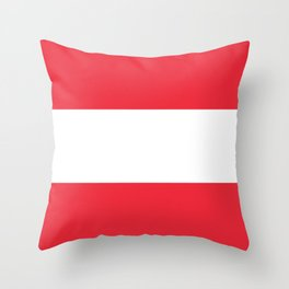 Flag of  Austria - High quality HD authentic version Throw Pillow